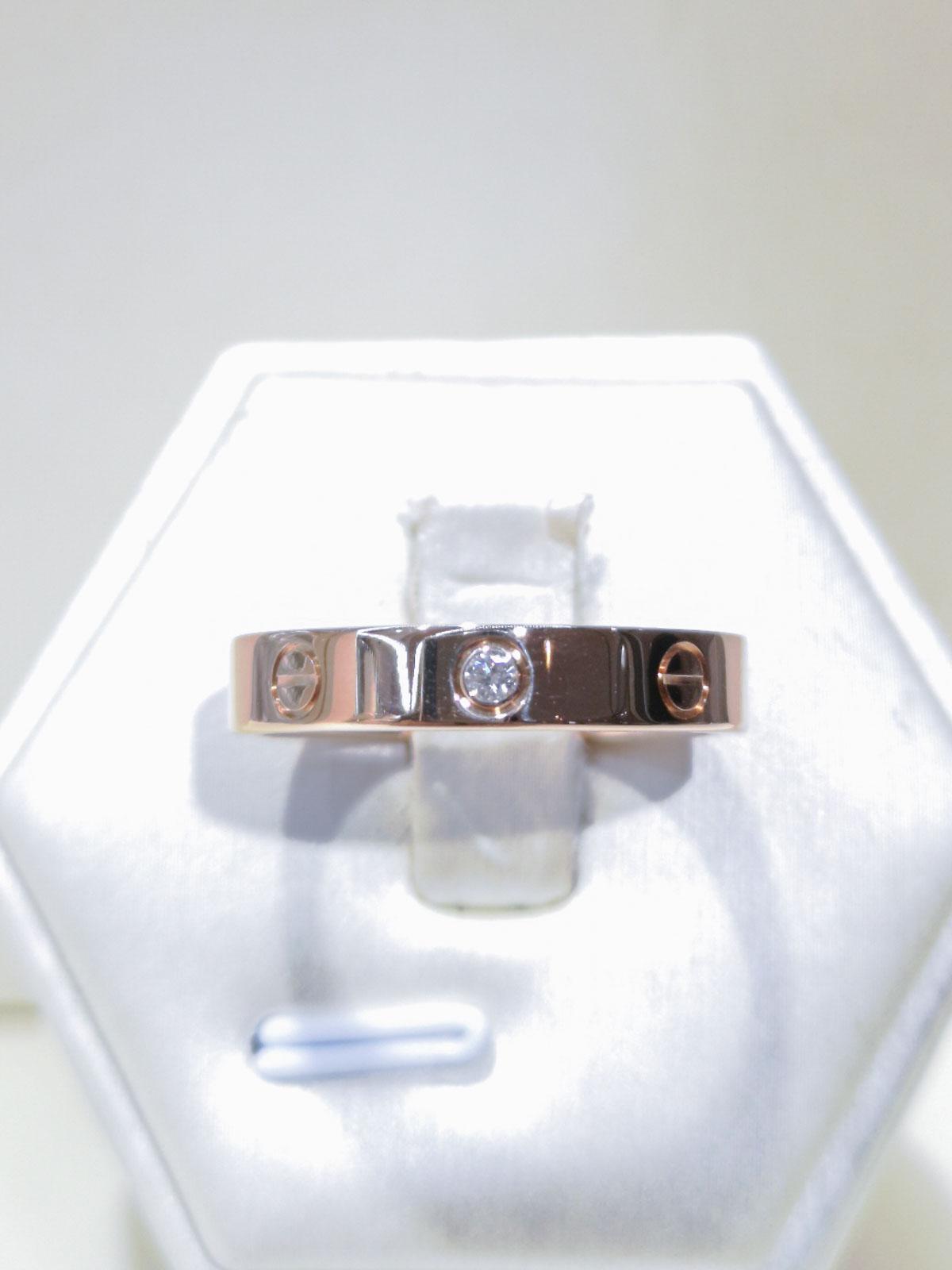 4e7897278b0f9 Cartier Love Rose Gold Diamond Ring