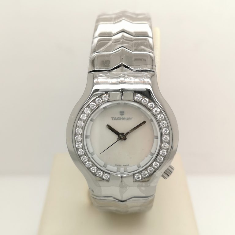 Tag Heuer Mother of Pearl Watch With Diamonds