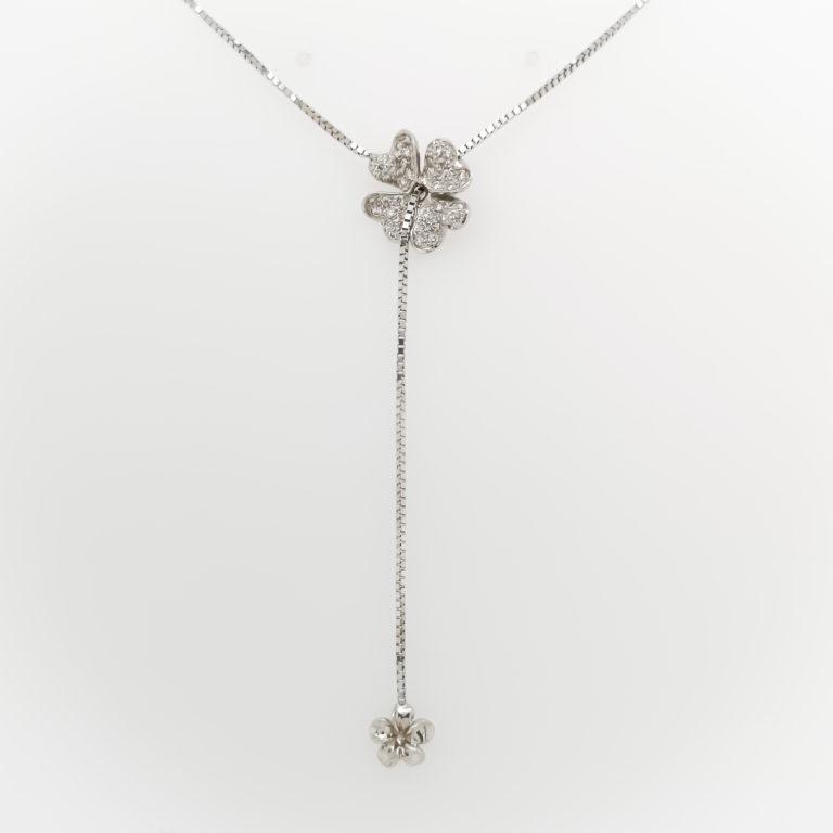 Floral Petals Diamond Necklace