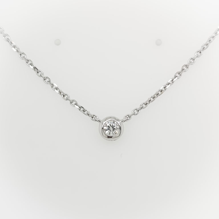 Chain Solitaire Necklace