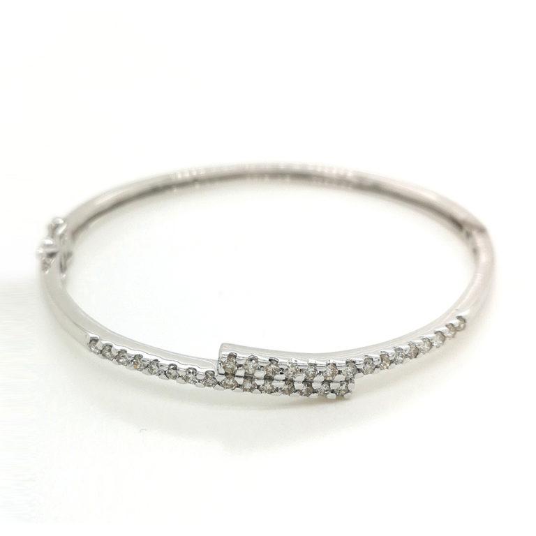 Wrap Multi Diamond 18K White Gold Bangle