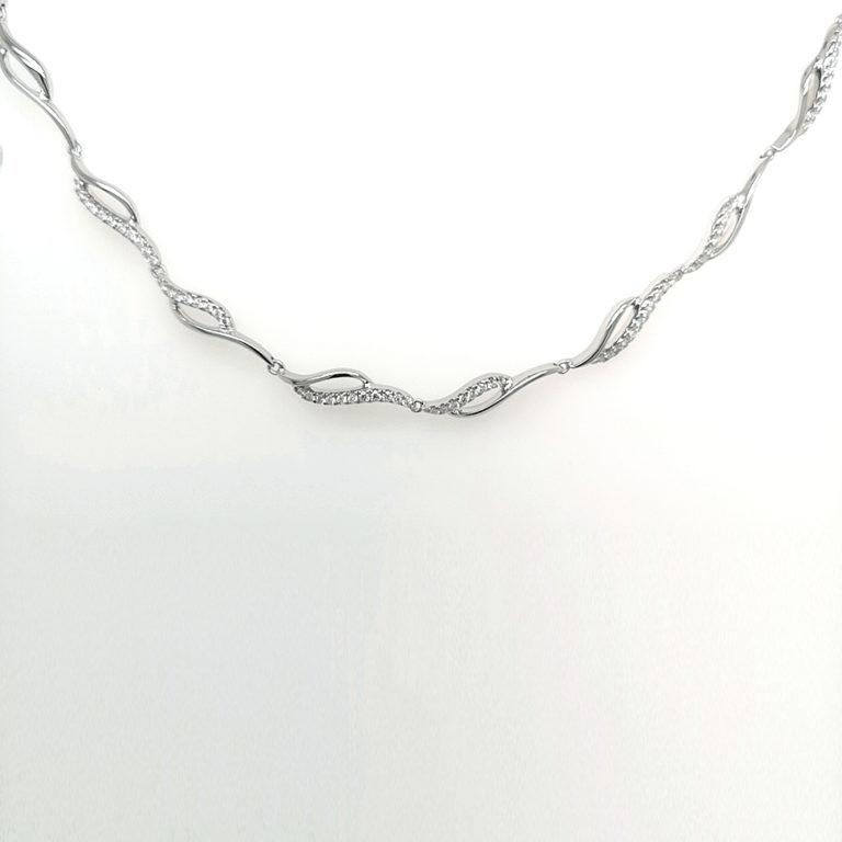 Wave Diamond Necklace
