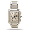 Cartier Tank Francaise Chronoflex Chronograph Steel Quartz Watch 2303