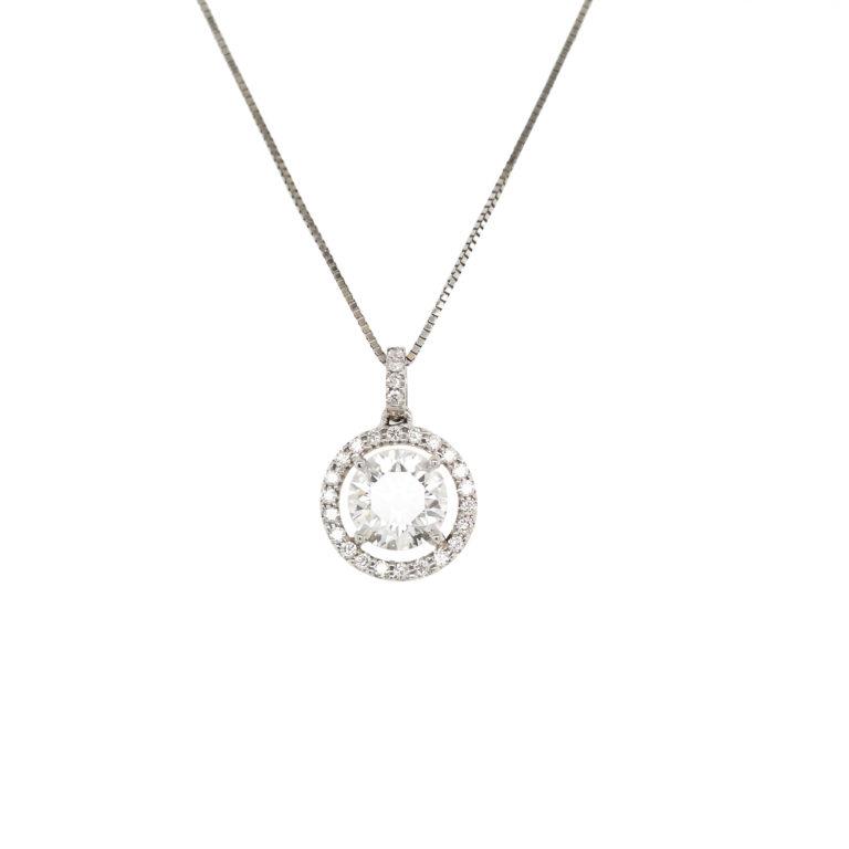PT950 Diamond Pendant