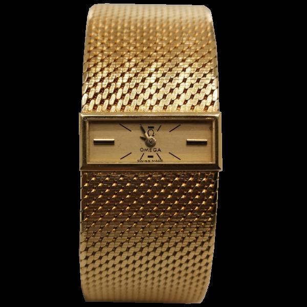Omega Lady 18K Gold Watch