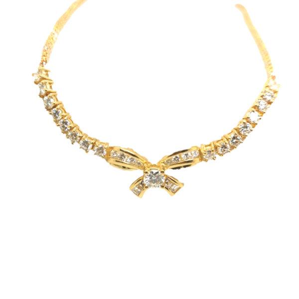 20K Yellow Gold Diamond Necklace