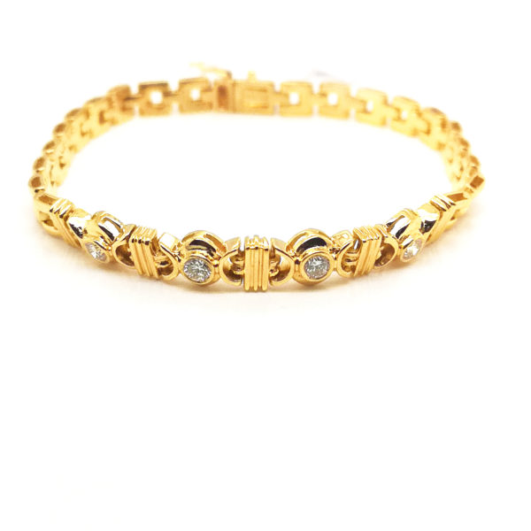 20K Yellow Gold Diamond Bracelet | 0.43 Carat Diamonds
