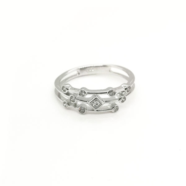 18K White Gold Diamond Ring | 0.2 Carat Diamonds