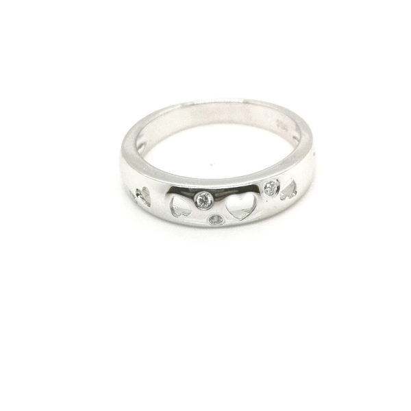 18K White Gold Diamond Ring | 0.06 Carat Diamonds