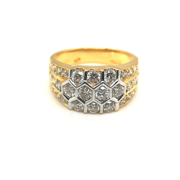 18K Yellow Gold Diamond Ring | 1.72 Carat Diamonds