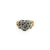 18K Yellow Gold Diamond Gem Ring   0.88 Carat Diamonds