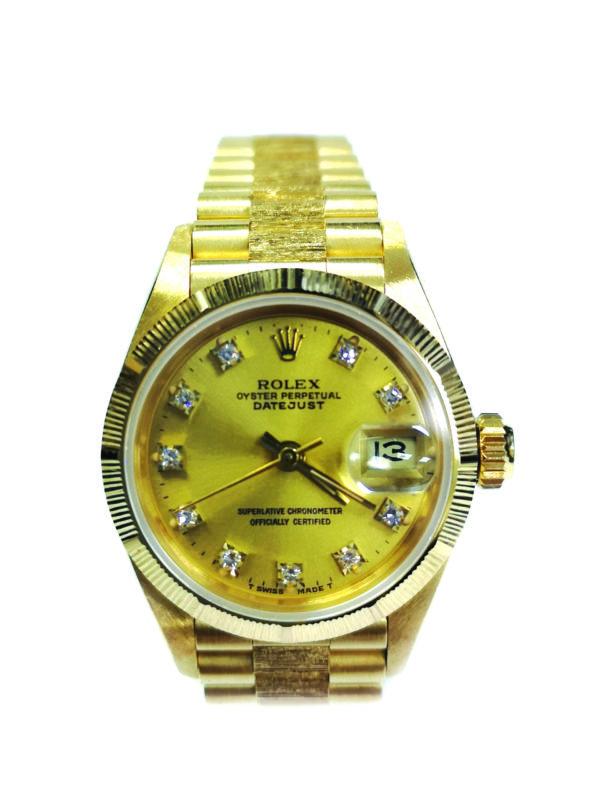 Rolex 18K Yellow Gold Diamond 69278 Watch