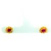 18K Yellow Gold Ruby Stud Earring