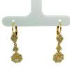 18K Yellow Gold Diamond Earring