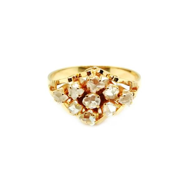 18K Yellow Gold Intan Ring