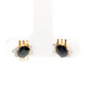 18K Yellow Gold Diamond Blue Sapphire Earstud