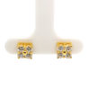 18K Yellow Gold Diamond Earstud