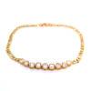18K Yellow Gold Stone Bracelet