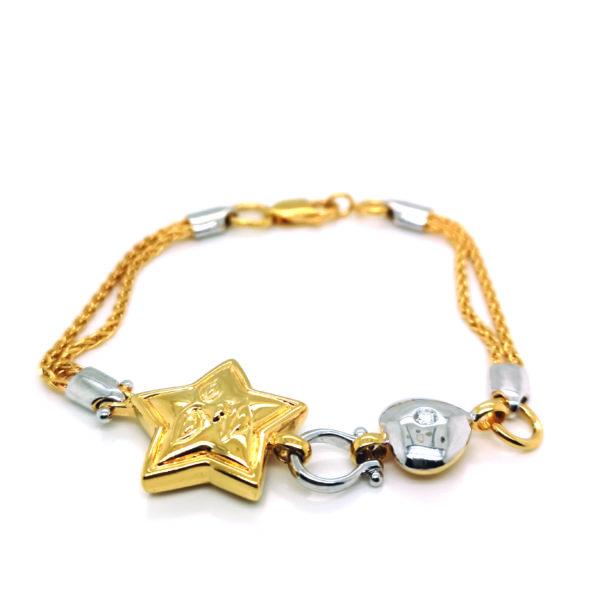 18K White/Yellow Gold Diamond Bracelet