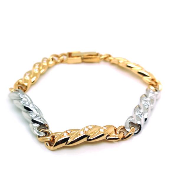 PT/18K Yellow Gold Diamond Bracelet