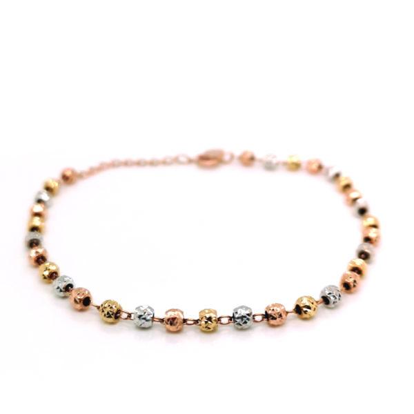 14K White/Yellow/Rose Gold Bracelet