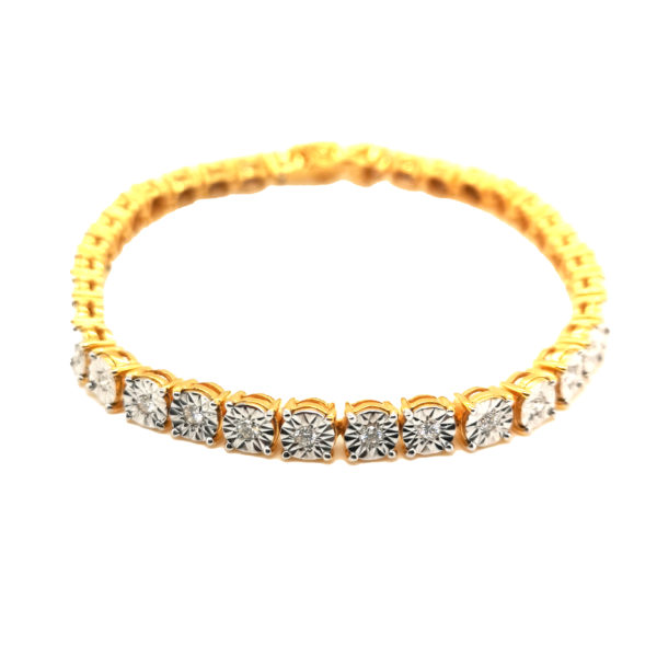 20K Yellow Gold Diamond Bracelet