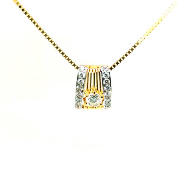 20K Yellow Gold Diamond Pendant