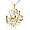 18K Yellow Gold Intan Pendant