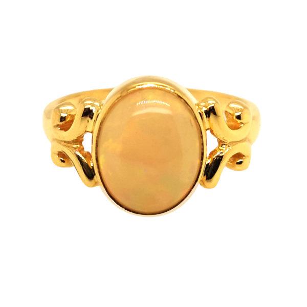 22K Yellow Gold Opal Ring