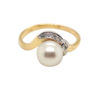 – 0.03 Carat Diamonds with Pearl – 18K Yellow Gold – Gross weight: 2.76g – Size : #14.5 – Refurbished & polished (like new) – One and only piece, place your reservation now while it's still available!