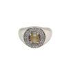 18K White Gold Diamond & Cat's Eye Ring