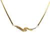 22K Yellow Gold Diamond Necklace