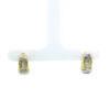 18K Yellow Gold Diamond Loop Earring