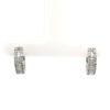 9K White Gold Diamond Loop Earring