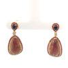 18K Yellow Gold Diamond Ruby/Sapphire Earring