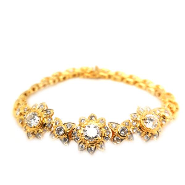 18K/20K Yellow Gold Diamond Bracelet