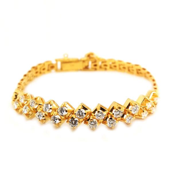 22K Yellow Gold Diamond Bracelet