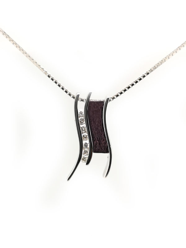 18K Purple/White Gold Diamond Pendant
