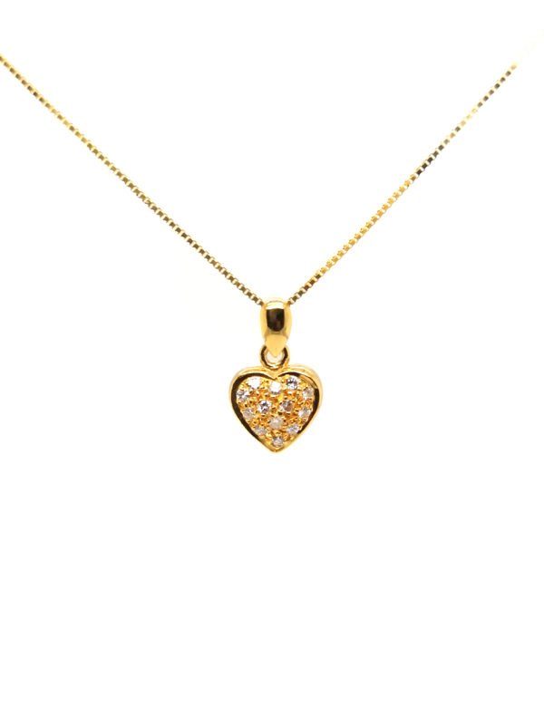 22K Yellow Gold Diamond Pendant