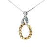 18K White Gold Diamond & Yellow Sapphire Pendant