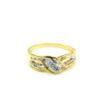 9K Yellow Gold Diamond Ring