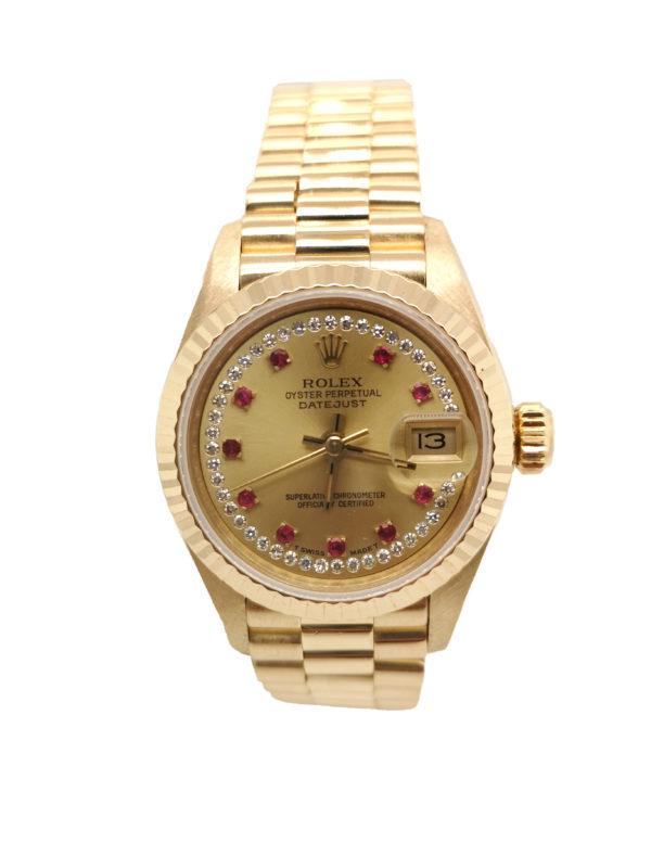 Rolex Lady Datejust Diamond 18K Yellow Gold 69178 Watch