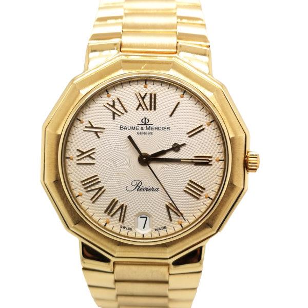Baume & Mercier Riviera 18K Yellow Gold Watch