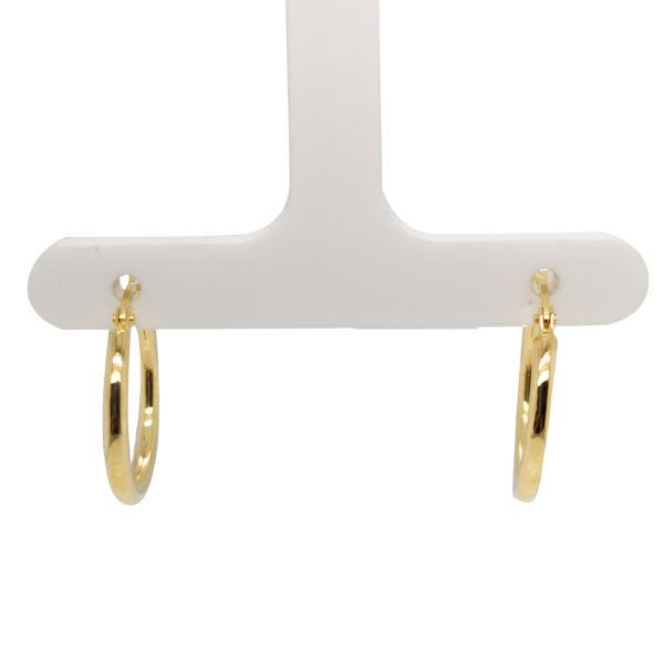 18K Yellow Gold Loop Earring