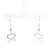 18K White Gold Dangling Hook Earring