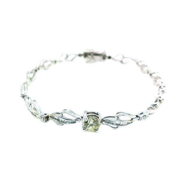 9K White Gold Diamond Bracelet