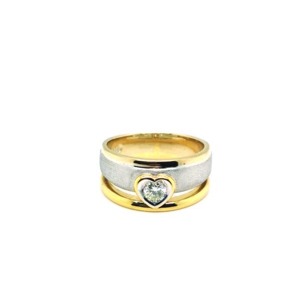 18K White/Yellow Gold Diamond Ring