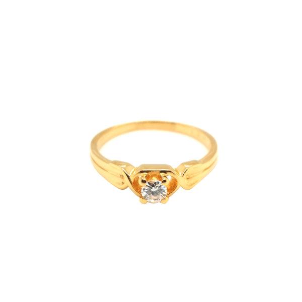 20K Yellow Gold Diamond Ring