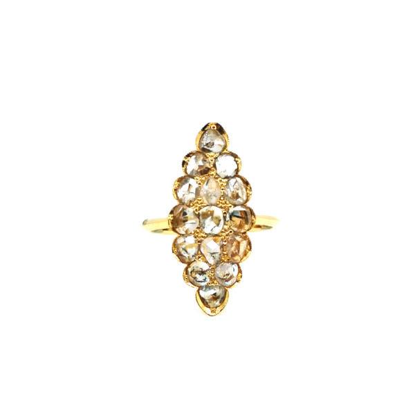 20K Yellow Gold Intan Ring