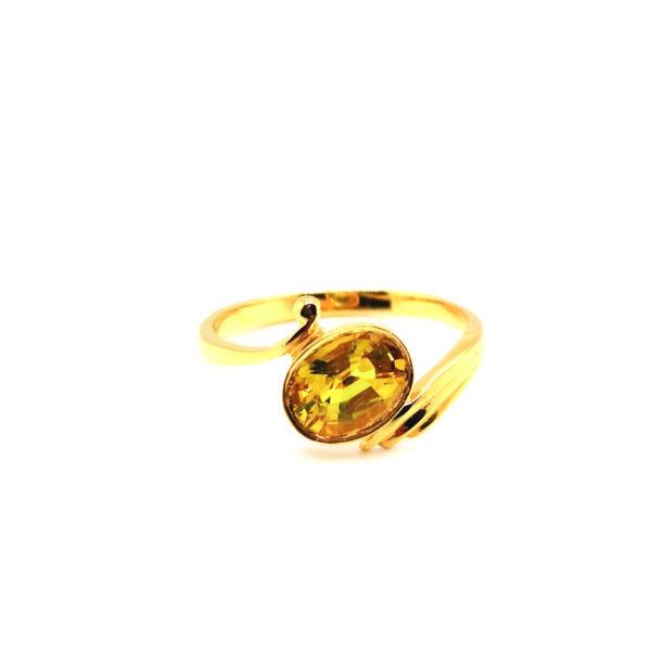 22K Yellow Gold Yellow Sapphire Ring